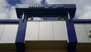 Facade of the College of Law Building, Bukidnon State University main campus/Information and Publication Service photo