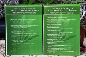 Print versions of the latest two issues of the Asia Pacific Journal of Social and Behavioral Sciences, formerly Bukidnon State University Research Journal. IPS