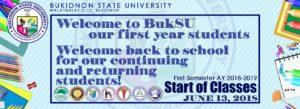 Start of Classes, 1st Semester AY2018-2019