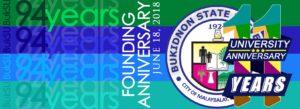BukSU's 94th Founding Anniversary and 11th University Anniversary