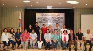 BukSU officials and faculty attend a gender mainstreaming seminar in 2019 File photo
