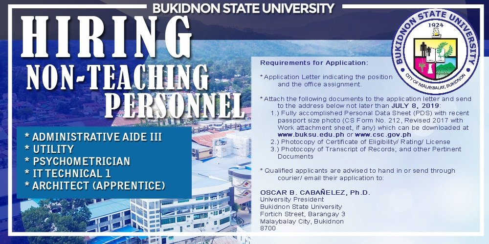 Notice of Hiring (Non-Teaching Personnel)