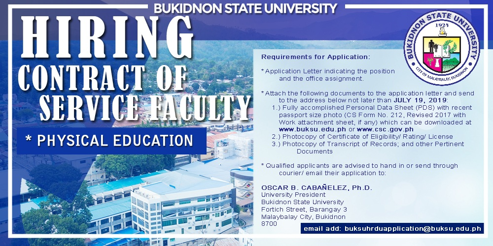 Notice of Hiring (Teaching Personnel)